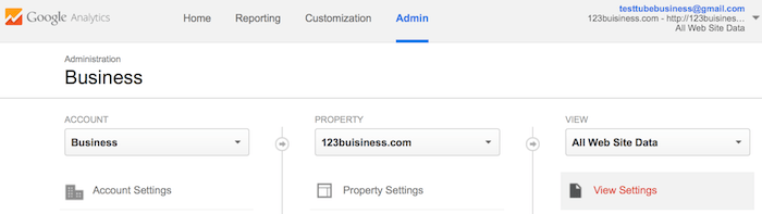setting up search query parameter in google analytics