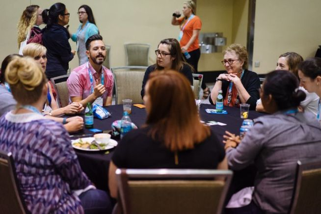Birds of a feather MozCon table from 2015
