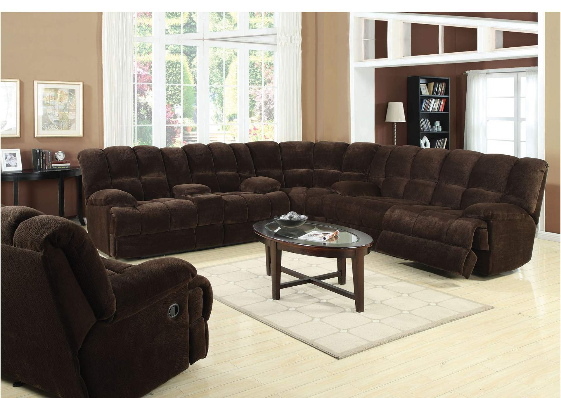 acme sectional sofa chocolate world market nolee review bodega discount furniture ahearn champion motion