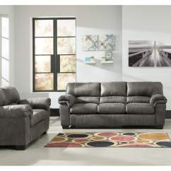 Red Microfiber Reclining Sofa Wooden Legs Canada 5th Avenue Furniture - Mi Bladen Slate And Loveseat