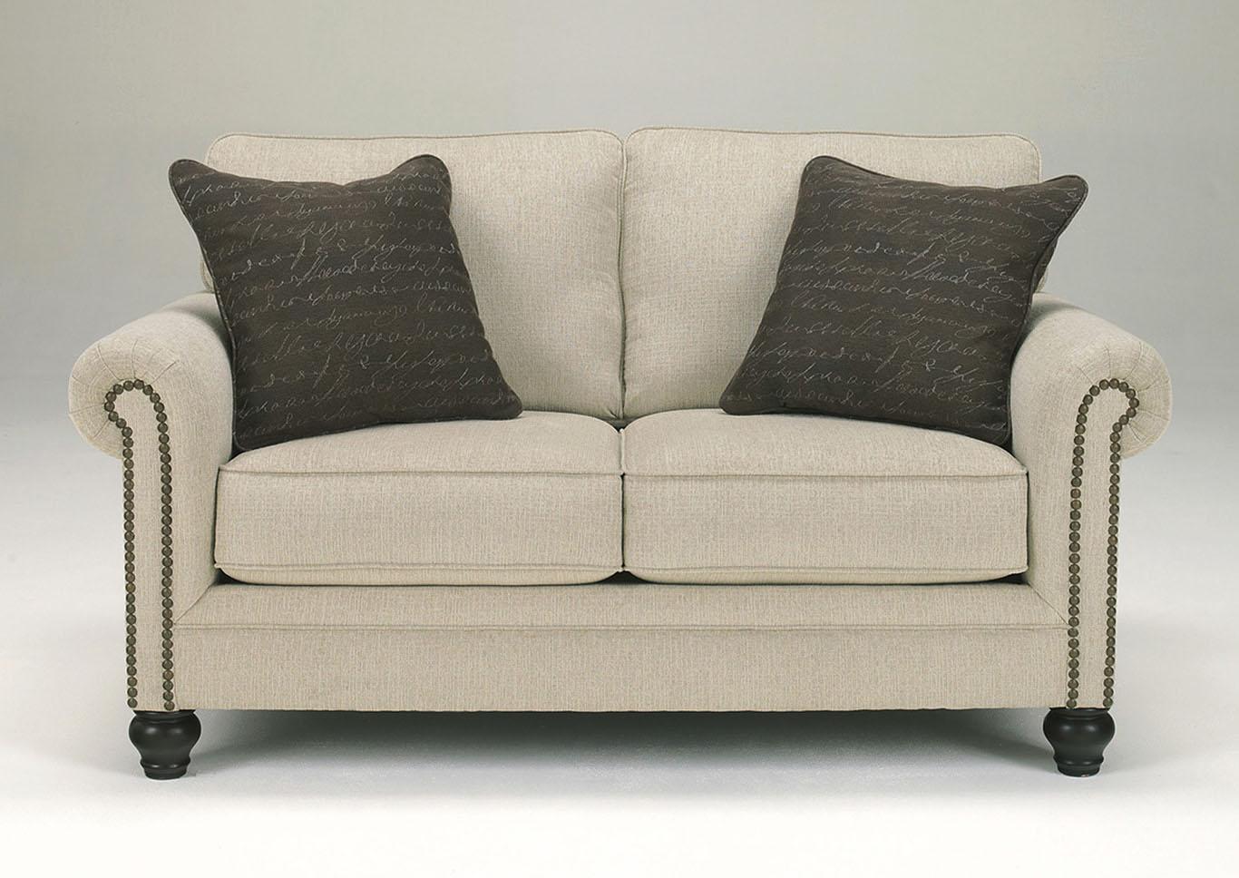 Rossie Furniture Hammond La Milari Linen Loveseat