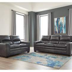 Living Room Sofa Two Chairs Western Style Furniture Love S Newark Ny Gleason Charcoal Loveseat