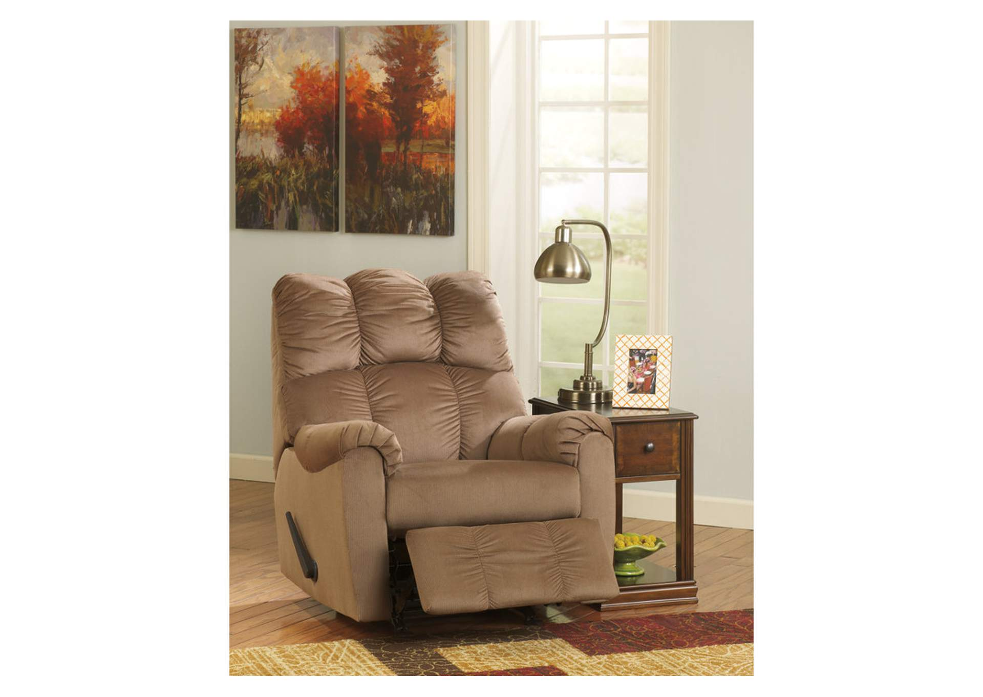 Rossie Furniture Hammond LA Raulo Mocha Rocker Recliner