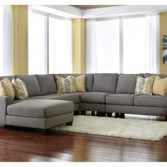 Ashley Furniture Swivel Chair Bedroom Price Oak Liquidators Chamberly Alloy Left Facing Chaise End Extended Sectional