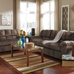 Woodhaven Living Room Furniture Dark Green Ideas Home Furnishing Center Ny Julson Cafe Sofa Loveseat Signature Design By Ashley