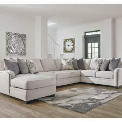 Gray Microfiber Power Reclining Sofa Best Deal On Sofas Ivan Smith Dellara Chalk Sectional