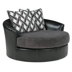 Metal Sofa Glider How To Make Cushions Harder Roses Flooring And Furniture Kumasi Smoke Oversized Swivel ...