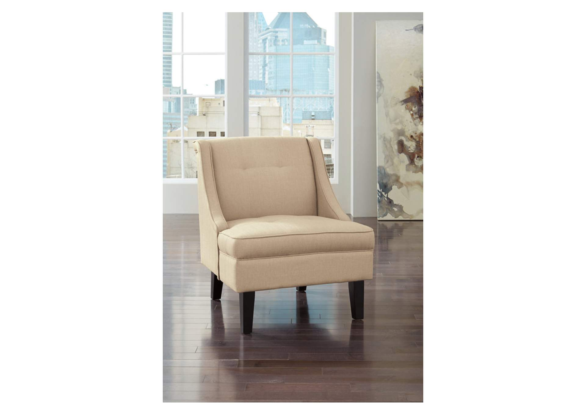 Oak Furniture Liquidators Clarinda Cream Accent Chair