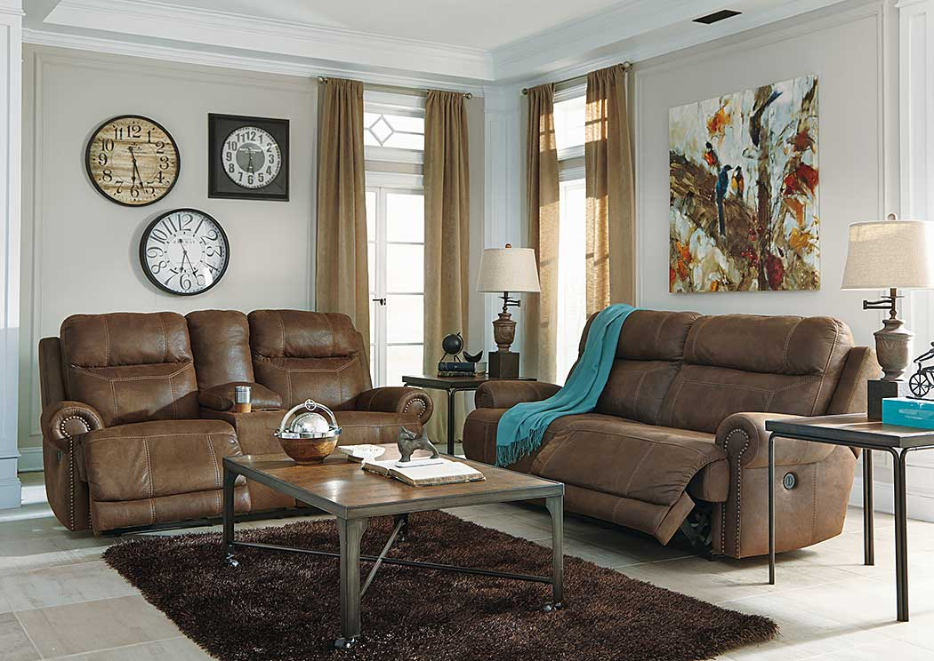 living room couch and 2 chairs modern wall sconces ideal furniture danbury austere brown seat reclining sofa loveseat signature design by ashley