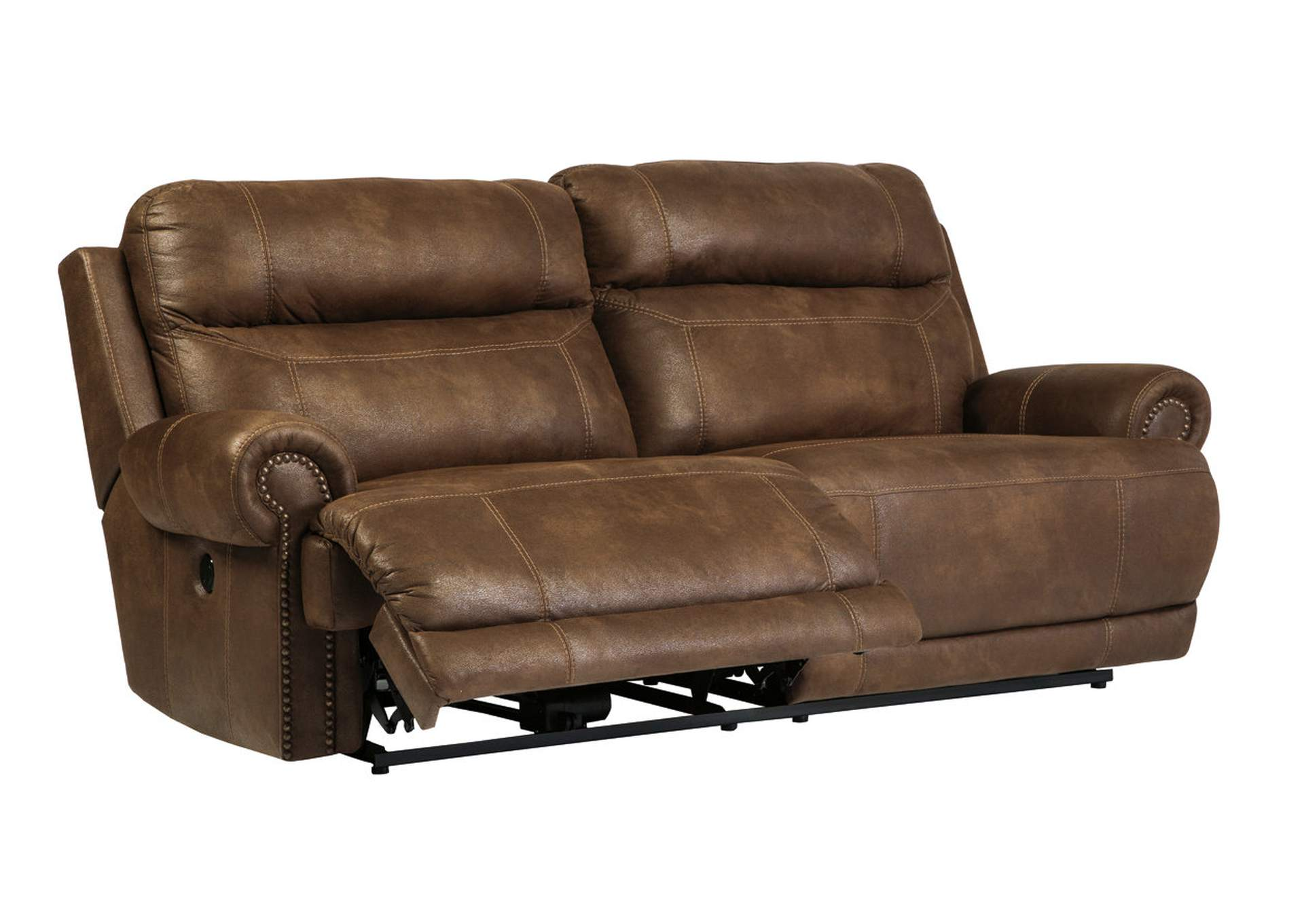 sleeper sofas chicago il sofa reupholstery cost uk carpet corner austere brown 2 seat reclining signature design by ashley