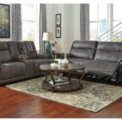 Living Room Couch And 2 Chairs Rooms To Go Packages Furniture Weekend Plus Austere Gray Seat Power Reclining Sofa Loveseat Signature Design By Ashley