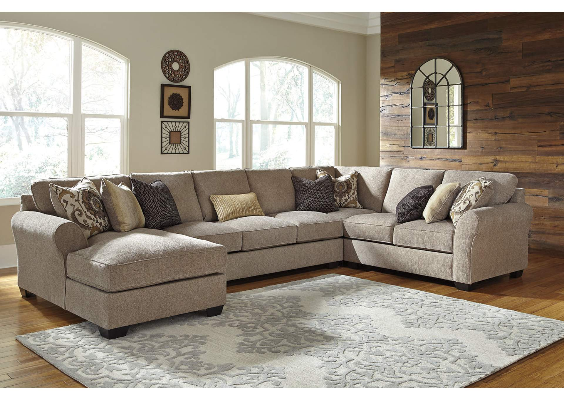 red microfiber reclining sofa macy s bed chaise jarons pantomine driftwood sectional w/left facing corner ...