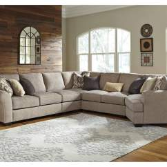 Glider Sofas How Big Is A Sectional Sofa Ivan Smith Pantomine Driftwood Extended W/right ...