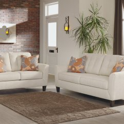 American Furniture Living Room Sectionals Small Interior Ideas Galleries Benissa Alabaster Fabric Sofa And Loveseat Signature Design By Ashley