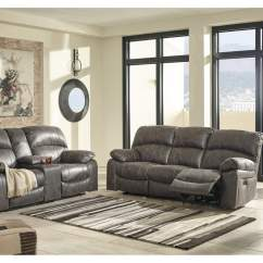 Living Room Furniture Brooklyn Wood New Home Ny Dunwell Steel Power Reclining Sofa Loveseat Signature Design By Ashley