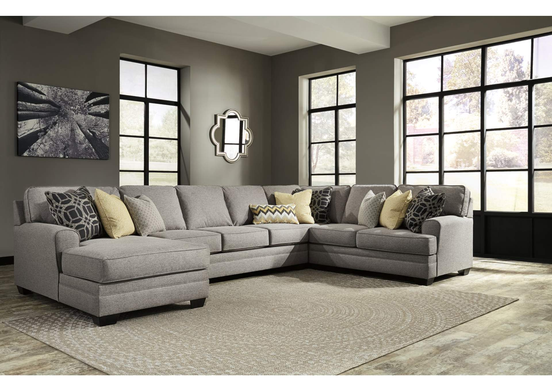 sleeper sectional sofa reclining loveseat white 3 seater ivan smith cresson pewter left facing corner chaise ...