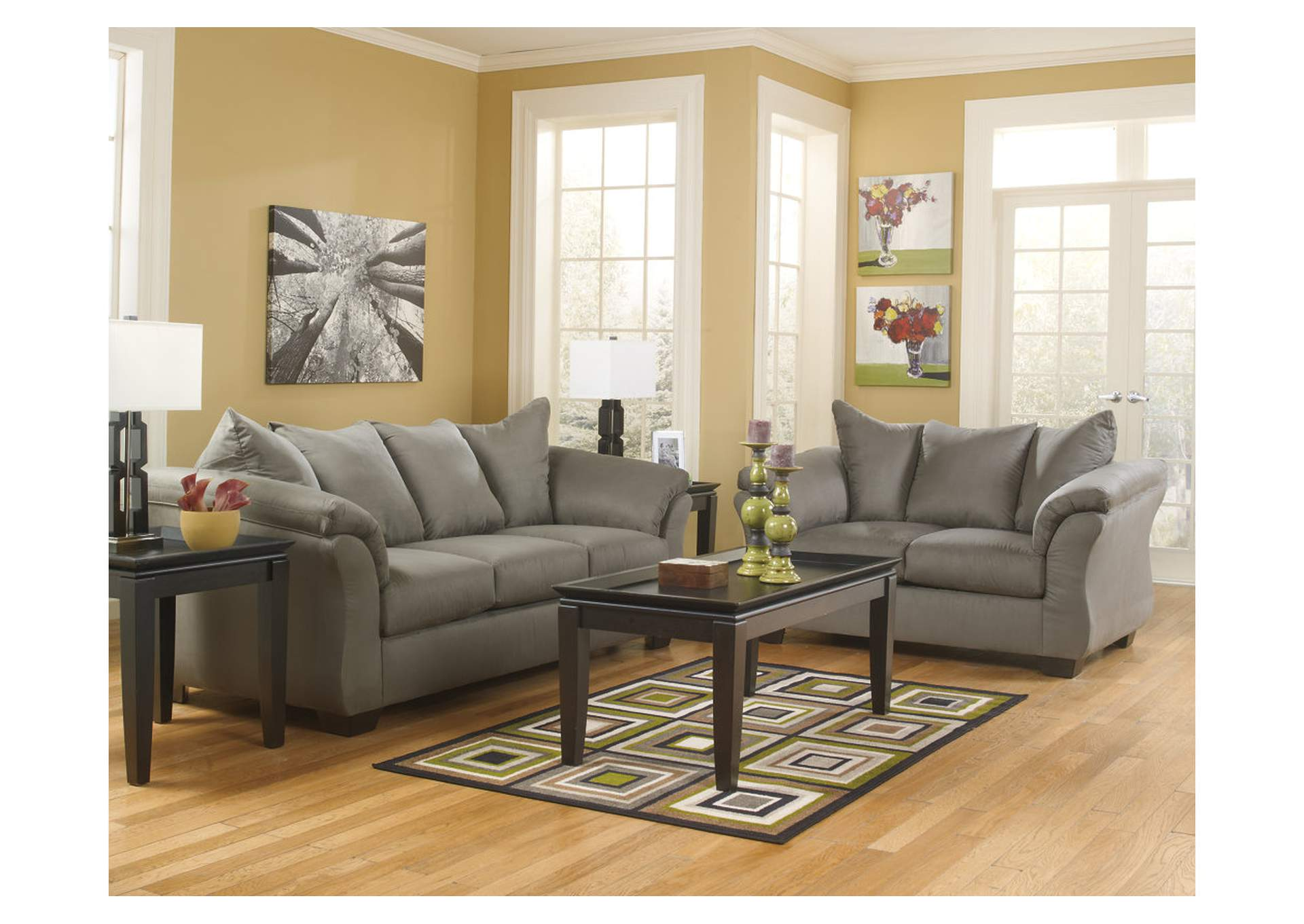 red microfiber reclining sofa chaise longue bizkaia harlem furniture darcy cobblestone & loveseat