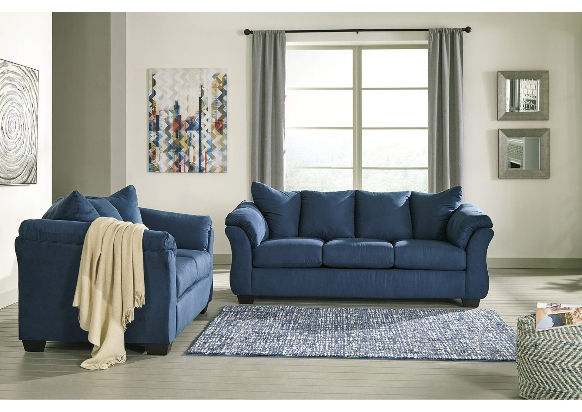 blue fl sofa tom dixon fine furniture coral springs darcy loveseat signature design by ashley