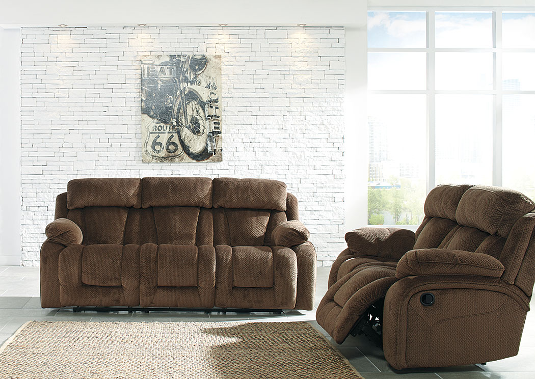 cheap furniture living room farmers sets utah stricklin chocolate reclining sofa loveseat signature design by ashley