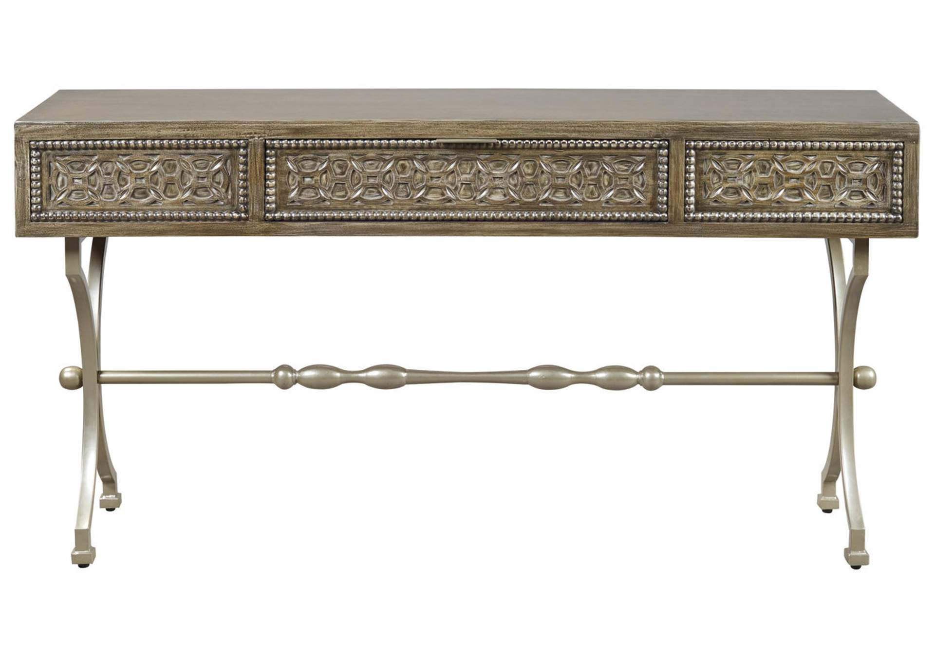 star furniture sofa table two tone reclining quinnland antique black console signature design by ashley