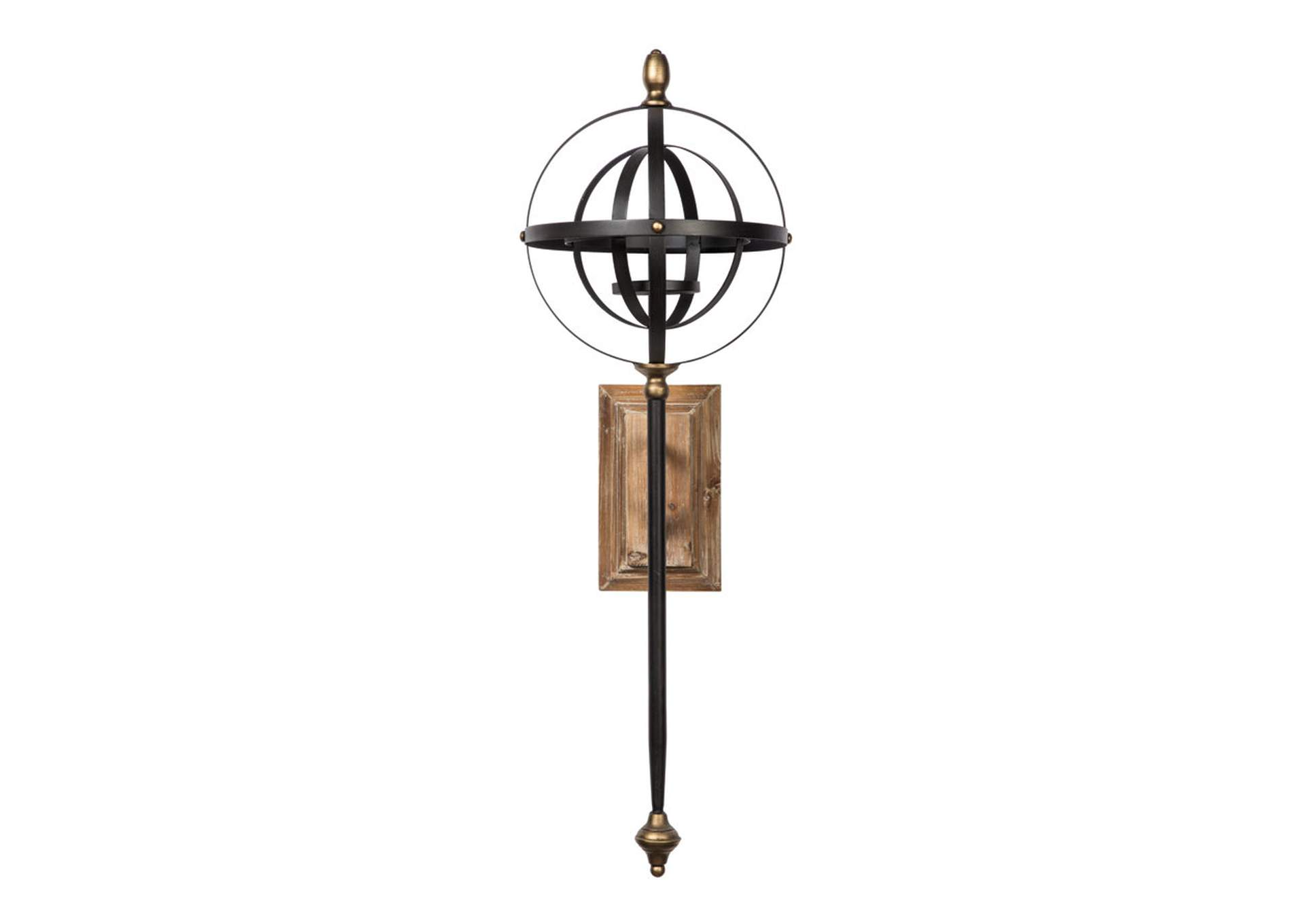 Dina Black Gold Finish Wall Sconce The Warehouse