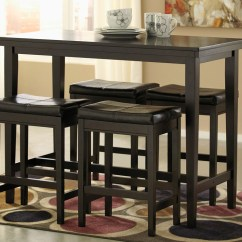 Black Kitchen Table And Chairs Models Hot Buys Furniture Snellville Ga Kimonte Rectangular Counter Height W 4 Dark Brown Barstools Signature Design By Ashley