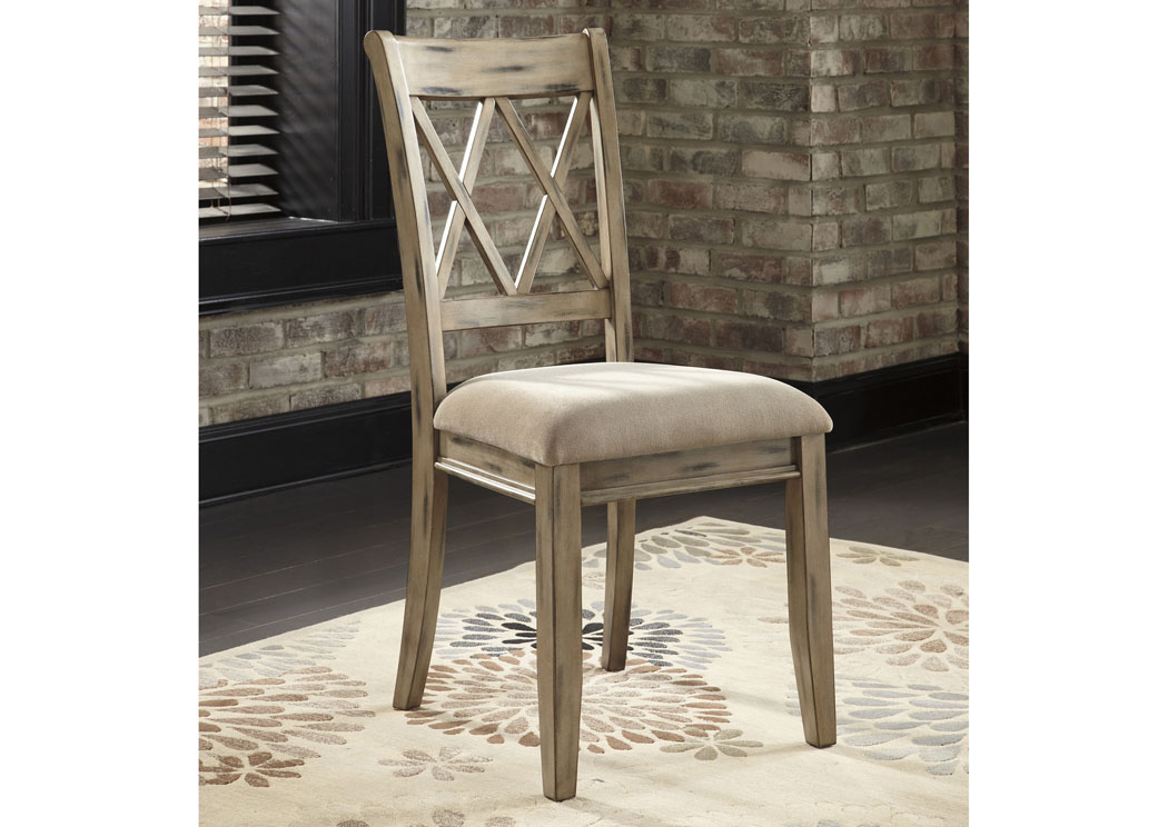 white upholstered chairs sheepskin chair pad canada furniture plus mestler antique side set of 2 signature design by ashley