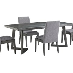 Just Chairs And Tables Modern Art Chair Covers Linens Furniture Besteneer Dark Gray Rectangular Dining Table W 4 Side Signature Design By Ashley
