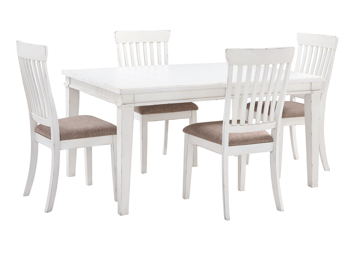 White Dining Room Chair R A Ahner Furniture Danbeck White Dining Table Set W Dining Table