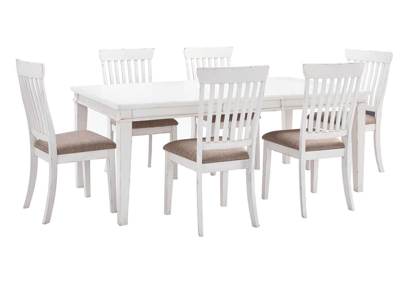 White Dining Room Chair Stringer Furniture Danbeck White Dining Table Set W Dining Table