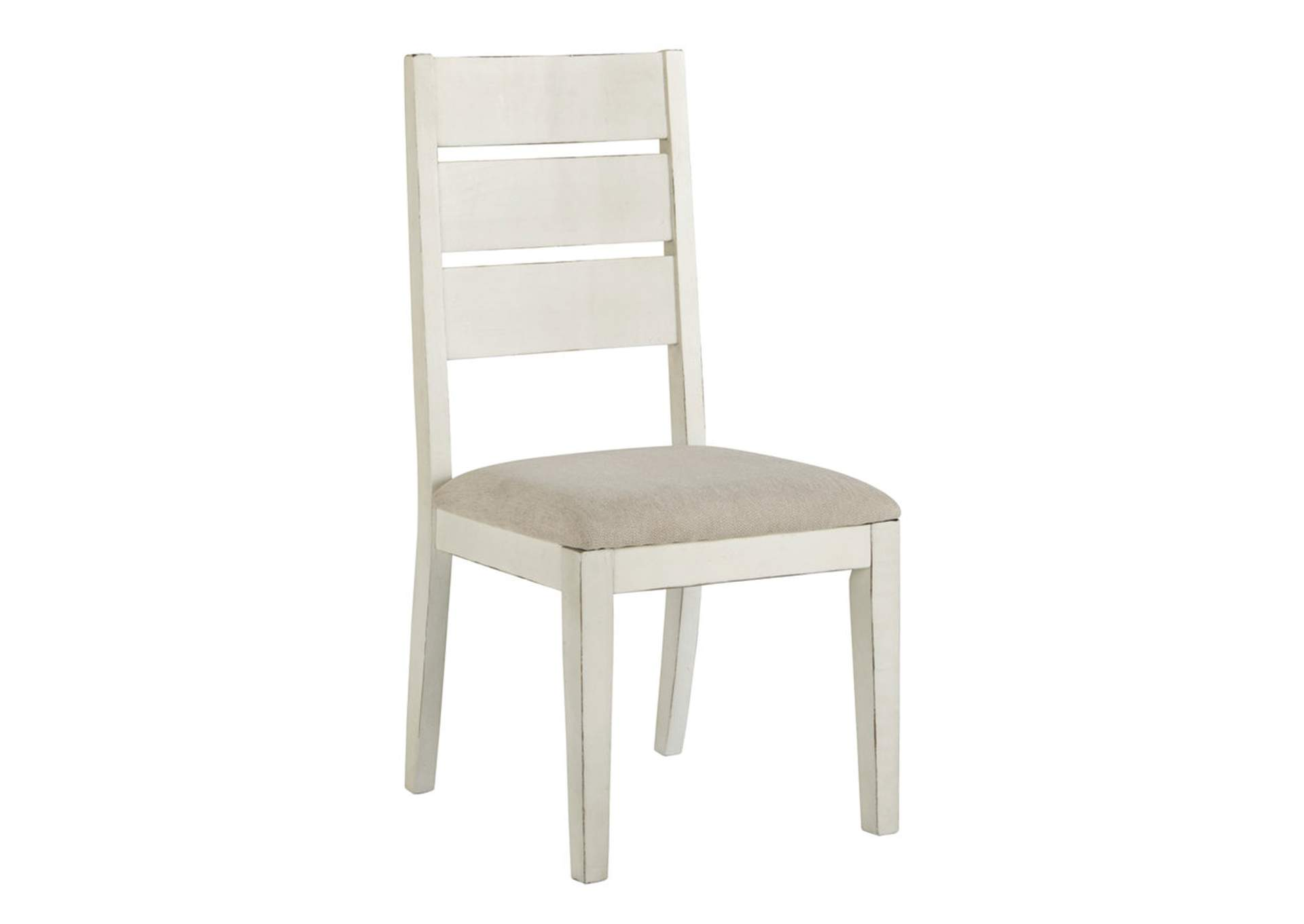 Antique White Dining Chairs Ivan Smith Grindleburg Antique White Dining Upholstered Side Chair
