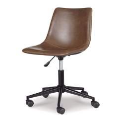 Chair Design Program Egg Desk Johnson S Furniture Office Brown Home Swivel Signature By Ashley