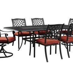 4 Chairs In Living Room Curtain Sets Center Tanglevale Burnt Orange Rectangular Extension Table W 2 Swivel Outdoor