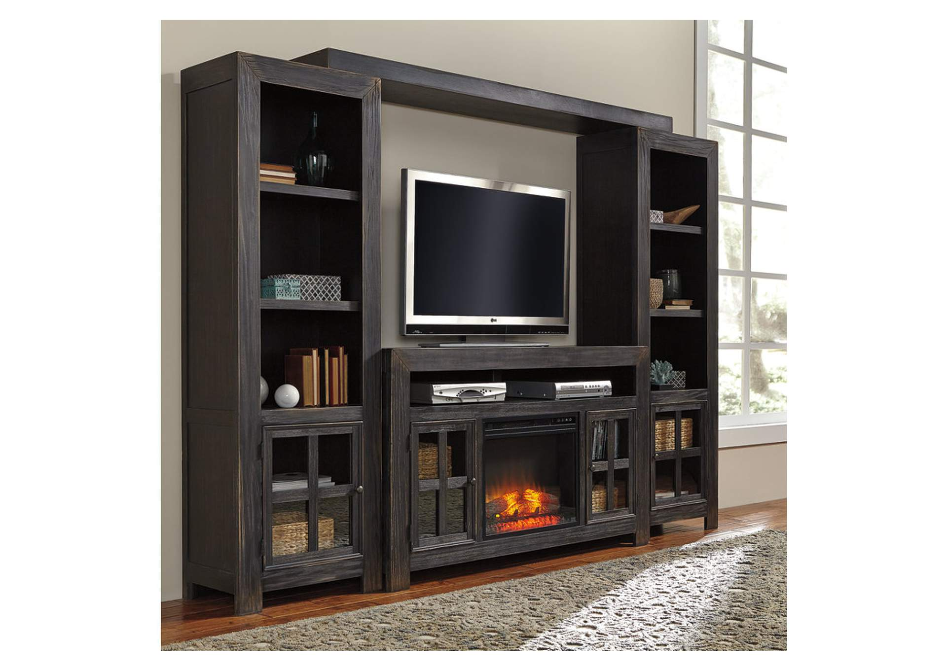 Jarons Gavelston Black Entertainment Center w/LED