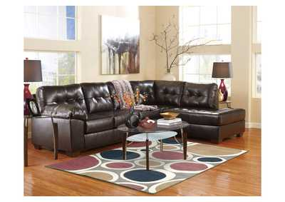 living room furniture for less home theater ideas mattress san antonio tx alliston durablend chocolate right facing chaise end sectional
