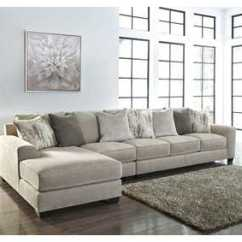 Chaise In Living Room Desk Home Furnishings Depot Ny Ardsley Pewter 3 Piece Laf Sectional
