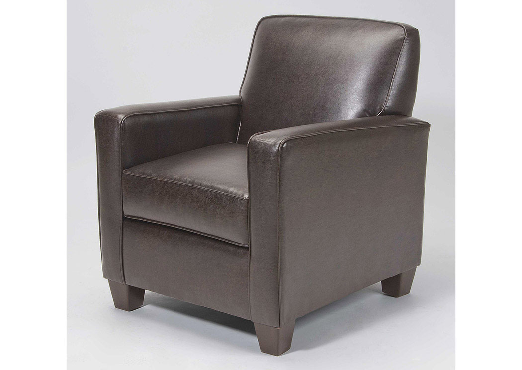 Atlantic Bedding and Furniture Marshall Walnut Accent Chair
