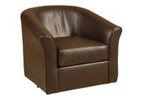 Atlantic Bedding and Furniture San Marino Chocolate Swivel ...