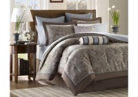 Atlantic Bedding and Furniture Aubrey Blue 12 Piece Queen ...