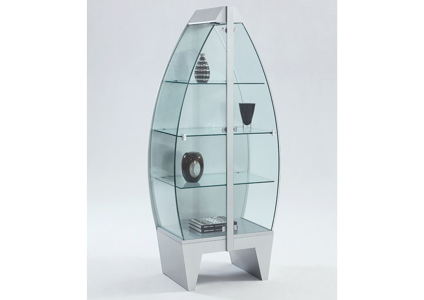 Squan Furniture Row Boat Glass Curio