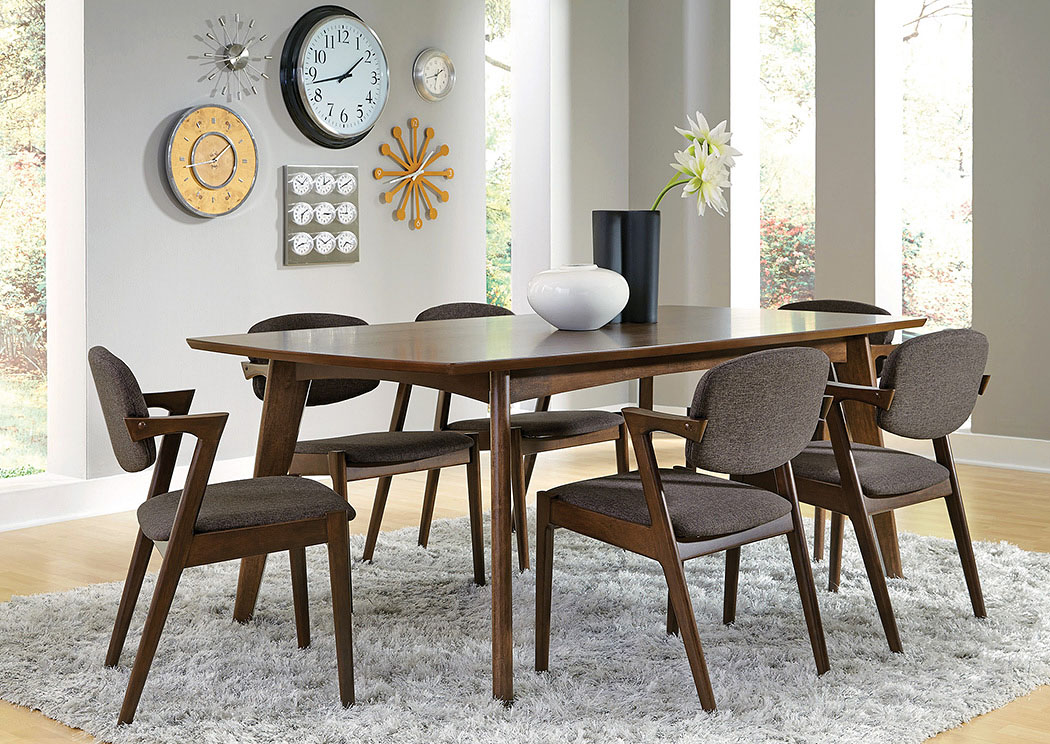dining room sets 6 chairs types of office lancaster s furniture to go walnut table w coaster
