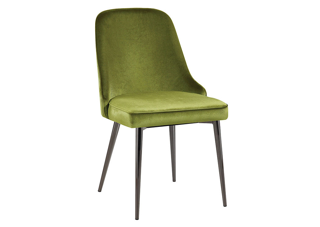 green upholstered dining chairs office chair arms or not galaxy furniture chicago il with tapering legs set of 4 coaster