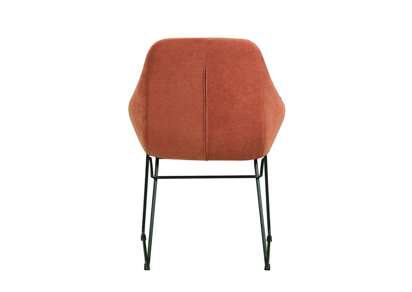 orange upholstered chair painted table and chairs uk ace furniture decor dining coaster