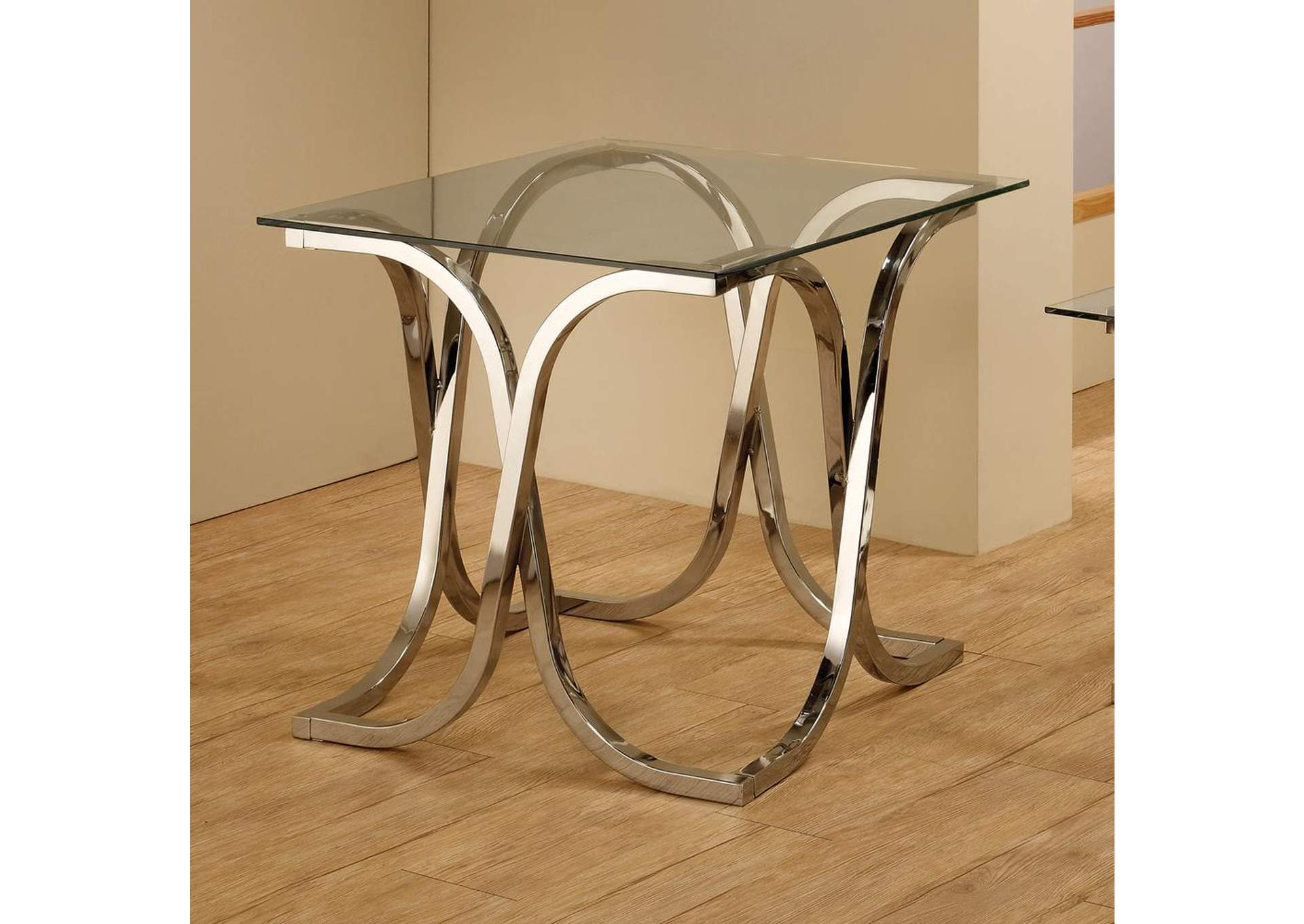 Flamingo Furniture Chrome End Table