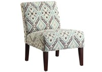 Furniture Palace Beige/Turquoise Accent Chair