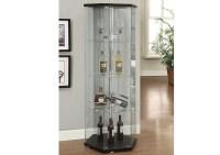 Compass Furniture Black Curio Cabinet
