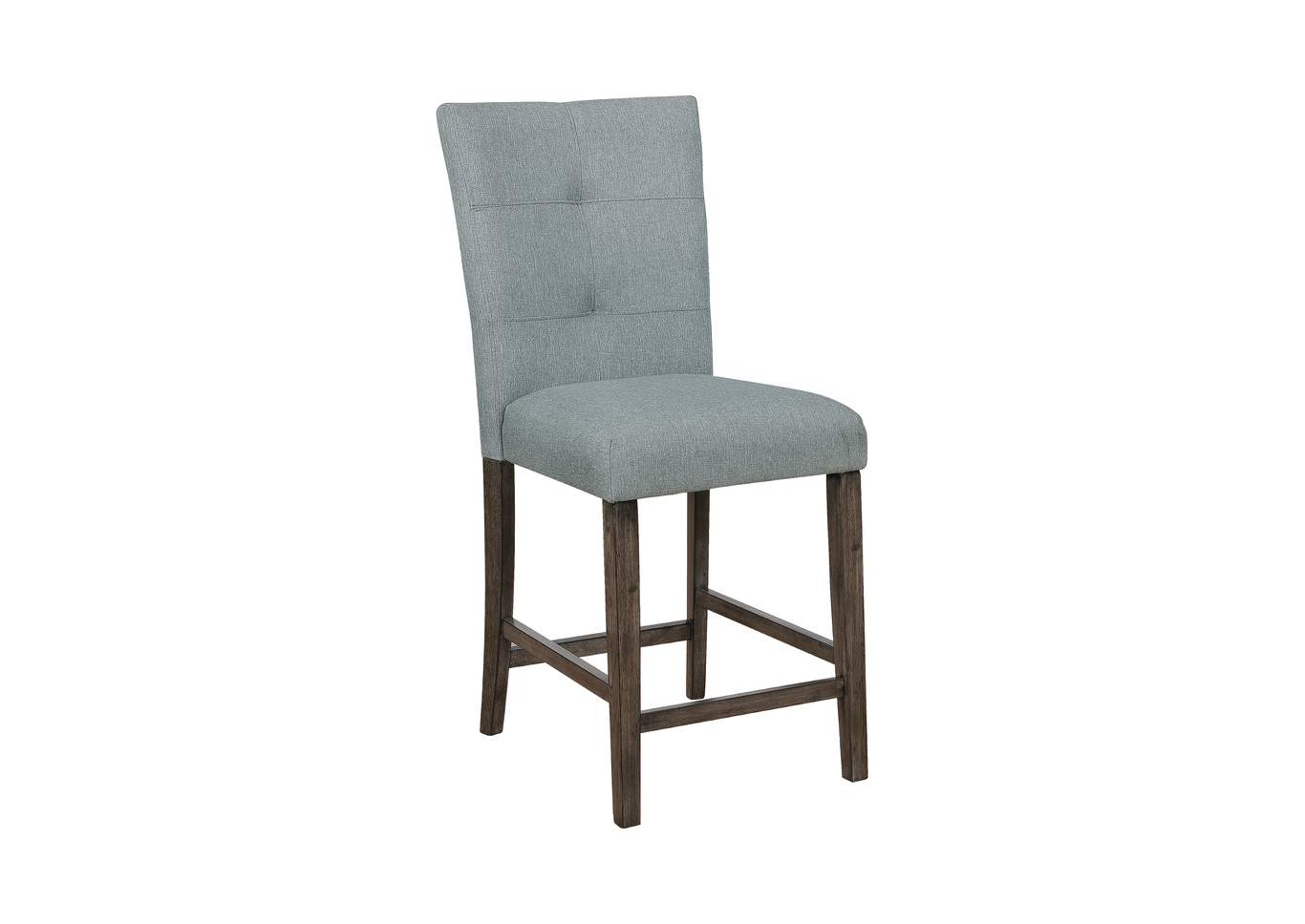 upholstered counter height chairs hardwood floor chair mat 46 x 60 montana s home furniture hollis grey set of 2 crown mark