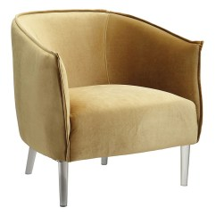Yellow Upholstered Accent Chair Table And Chairs For Sale Cheap Best Buy Furniture Mattress Donostia Of America