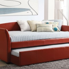 Sofa Legs With Br Castors Mart Alpha Reviews Furniture Liquidators Baton Rouge La Delmar Red Daybed