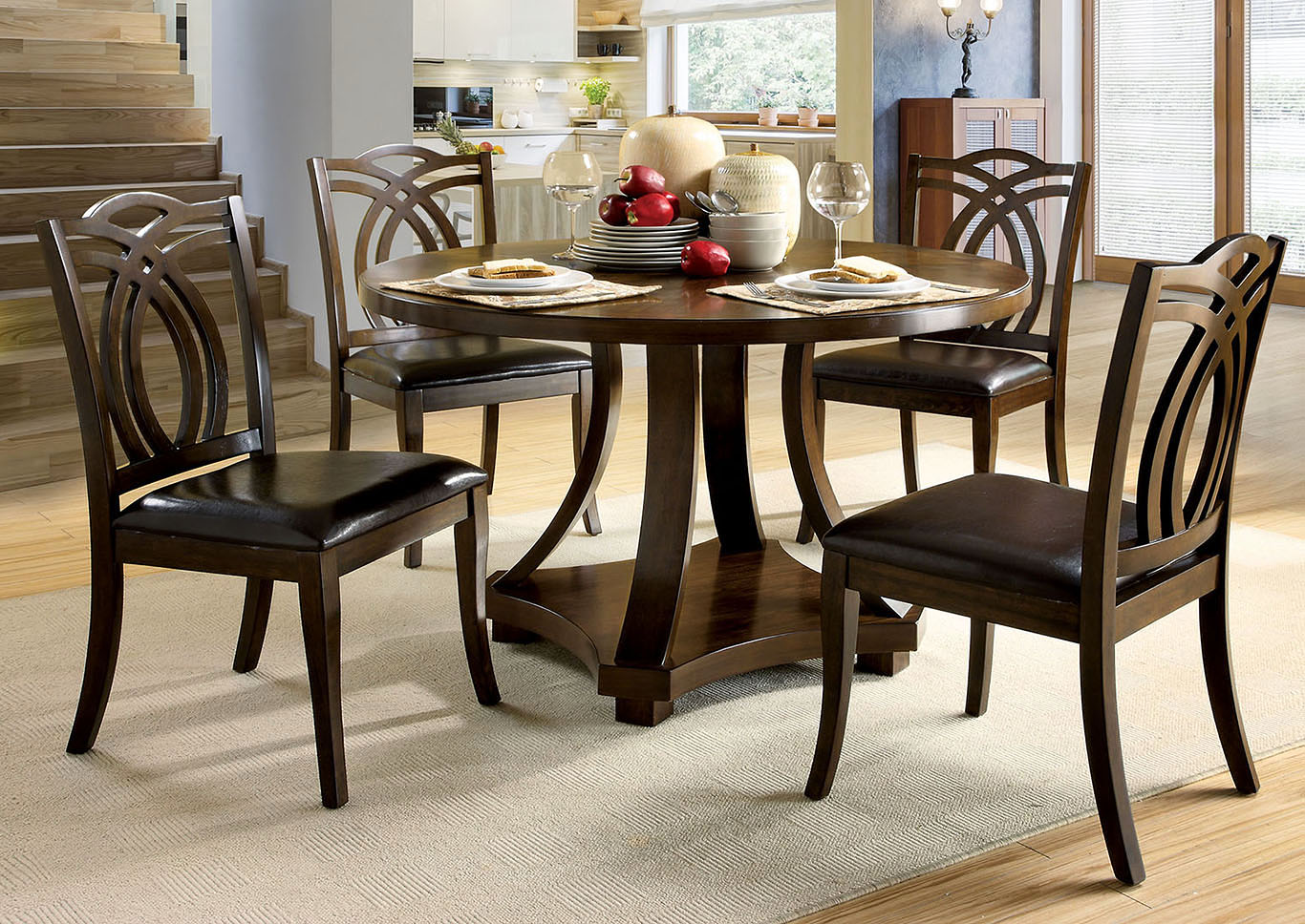 dark walnut dining chairs office chair new zealand ocean cabinetry and furniture keukenhof round